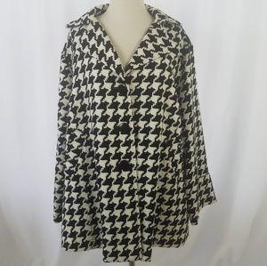 Joan Rivers Jacket Coat Swing Notch Collar